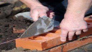 bricklaying sand mortar