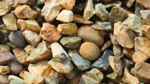 20mm Golden Flint for driveways Dry Picture
