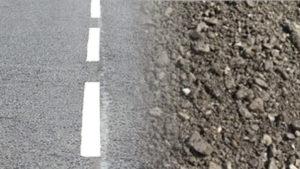 crushed asphalt for construction
